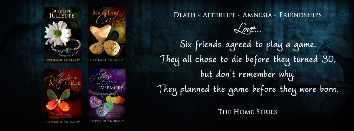 Death-Afterlife-Amnesia-Friendships-Love... Six friends agreed to play a game. They all chose to die before they turned 30, but don't remember why. They planned the game before they were born. The Home Series